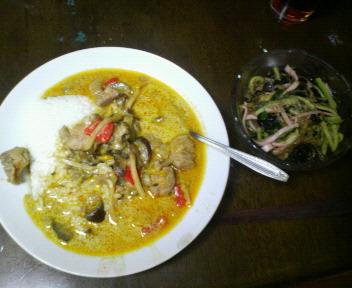 タイ風カレーと春雨サラダ