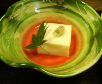 梨木館 夕飯とうもろこし豆腐