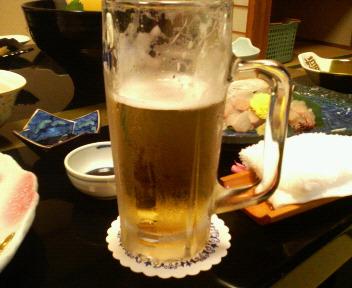 梨木館 夕飯ビール